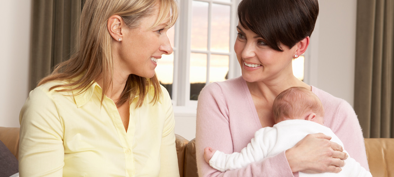 Doula Talking To New Mother
