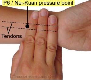P-6 acupressure point