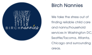 Logo for birch nannies