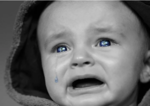 Baby crying blue tears