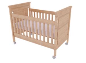 photo of wood baby crib